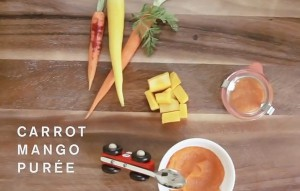 Carrot and Mango baby food