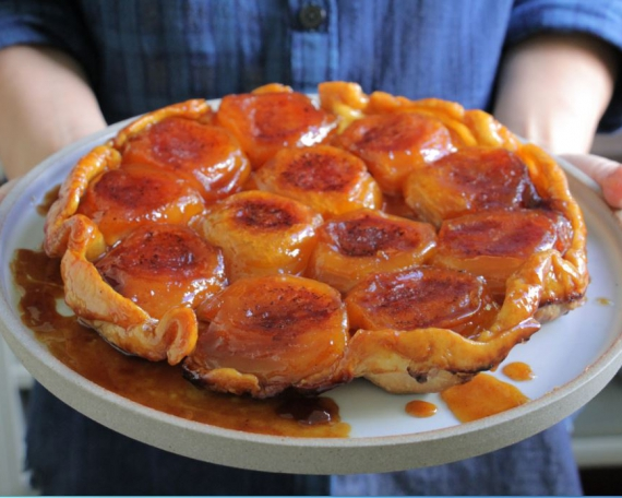 Caramelized Apple Tarte Tatin with Vanilla & Lemon