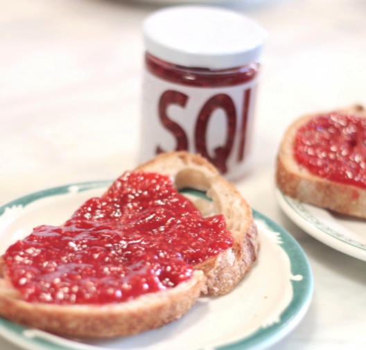 Homemade Raspberry Cardamom Jam with SQIRL
