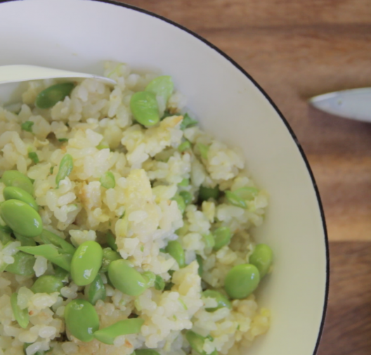 Authentic Taiwanese Fried Rice with spring veggies