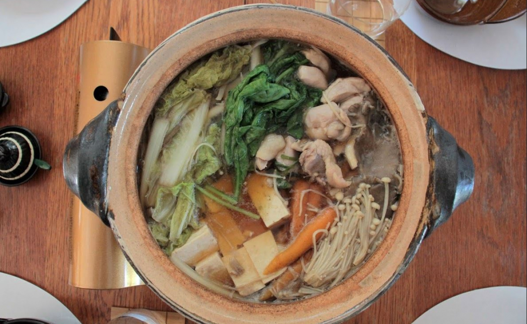 Japanese Chicken & Cabbage Dashi Hot Pot